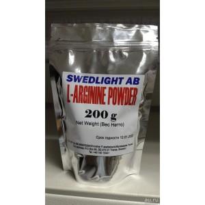 Swedlight AB, L-Arginine Powder(Аргинин), 200 гр.