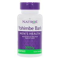 Natrol, Yohimbe Bark(Йохимбе), 500 мг, 90 капсул(порций)