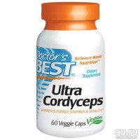 Doctor's Best, Ultra Cordyceps(Кордицепс) 60 капсул