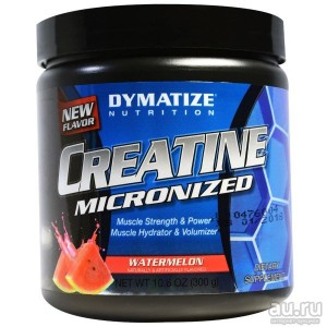 Dymatize Nutrition, Creatine Micronized Blue Raspberry(Креатин), 300 гр,
