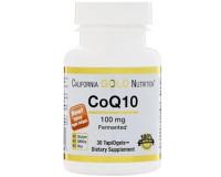 California Gold Nutrition, CoQ10(Коэнзим Q10), 100 мг, 30 кап.