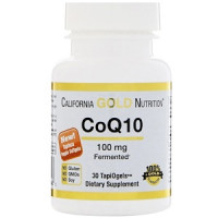 California Gold Nutrition, CoQ10(Коэнзим Q10), 100 мг, 30 кап.
