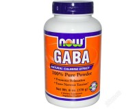 NOW, GABA 100% Pure Powder(Гамма-аминомасляная кислота), 170 гр.