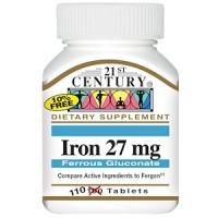 21st Century, Iron(Железо), 27 мг, 110 табл.