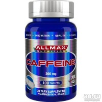 Allmax Nutrition, Сaffeine(Кофеин), 200 мг, 100 табл.