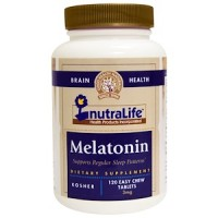 NutraLife, melatonin 3 мг(мелатонин), 120 табл.