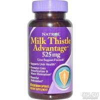 Силимарин, Natrol Milk Thistle Advantage 525 мг, 60 капсул, защита, восстановление, чистка печени, пкт, 100% оригинал - привезен из сша