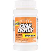 21st One daily Women's, (Витаминно-минеральный комплекс, мультивитамины) 100 таб.