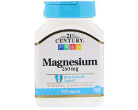 21st Century, magnesium(магний) 250 мг, 110 таб