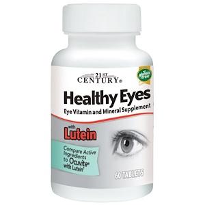 21st Century, Healthy Eyes (здоровые глаза, витамины для глаз) Lutein(лютеин), 60 табл.