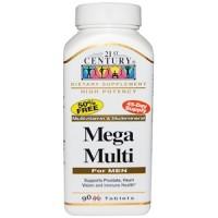 21st Century, Mega Multi for Men(Мультивитамины, Витаминно-Минеральный Комплекс для Мужчин), 90 табл.