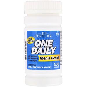 21 st century, One Daily Men's Health(Мультивитамины, Витаминно-Минеральный Комплекс), 100 табл.