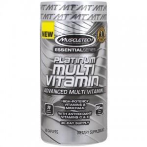 Muscletech, Essential Series Platinum Multi Vitamin(Мультивитамины, Витаминно-Минеральный Комплекс) 90 таб.