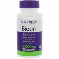 Natrol - Biotin(Биотин) 10,000mcg Maximum Strength, 100 таблеток