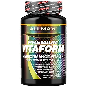 AllMax Nutrition, Premium Vitaform, performance multivitamin(витаминно-минеральный комплекс, мультивитамины),  60 табл.