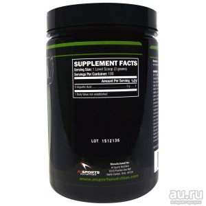 Al Sports Nutrition, D-Aspartic Acid Powder(D-аспарагиновая кислота, DAA), 300 гр