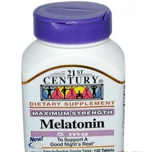 21st Century, Melatonin 5 мг(Мелатонин), 120 табл.